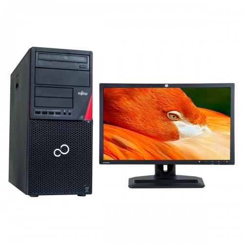 Pachet PC+LCD Fujitsu Siemens P720, Intel Core i5-4570S, 2.90GHz, 8GB DDR3, 500GB SATA, DVD-RW