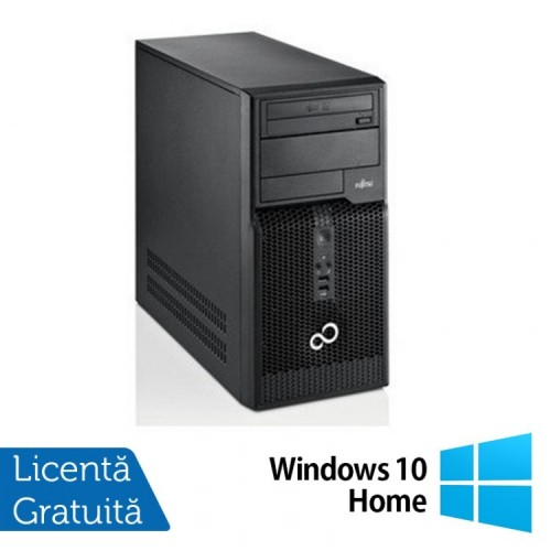 Fujitsu Siemens Esprimo P510, Intel Dual Core G640, 2.8GHz, 4GB DDR3, 500GB SATA, DVD-RW + Windows 10 Home, Refurbished