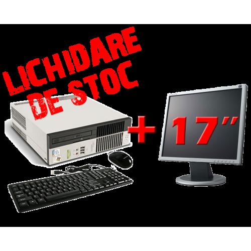 Fujitsu Esprimo C5900 USFF, Intel Pentium 4, 3.0Ghz, 1Gb DDR2, 40Gb HDD cu Monitor 17 inch ***
