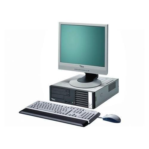 PACHET PC Second Hand Fujitsu E5730, Core 2 Duo E7300, 2.66Ghz, 2Gb DDR2, 160Gb, DVD-RW cu Monitor LCD