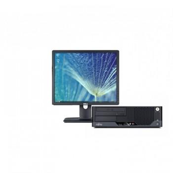 Pachet PC+LCD Fujitsu Esprimo E7936, Intel Core 2 Duo E7500 2.93GHz, 2Gb DDR2, 160Gb HDD, DVD-ROM