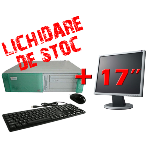 Calculator ieftin Fujitsu Siemens K520, Pentium 3, 800Mhz, 128MB Ram, 10GB HDD, CD-ROM cu Monitor 17 inch ***