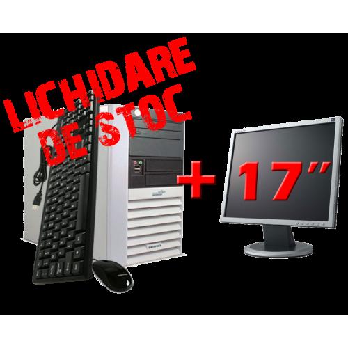 Oferta Calculator Fujitsu Tower P5615 Dual Core AMD 64 X2 3800+, 1Gb DDR2, 80Gb HDD, DVD-ROM cu Monitor 17 Inch ***