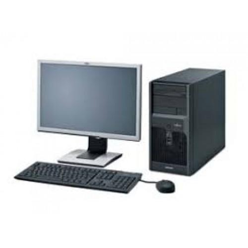 Pachet PC+LCD Fujitsu Siemens Esprimo P2560, Intel Dual Core E8400, 3.0 GHz, 2 GB DDR3, 250GB SATA, DVD-RW