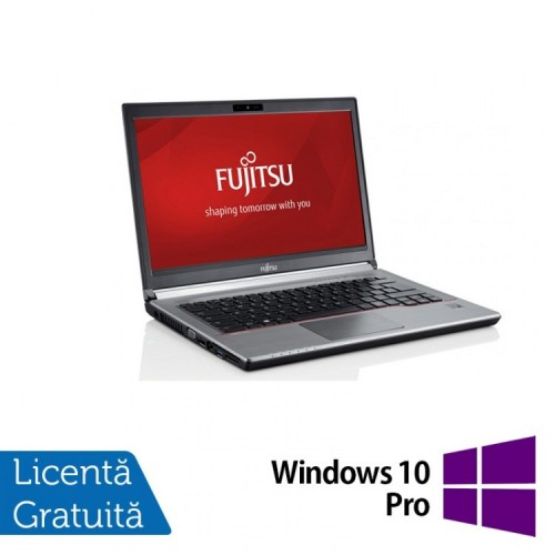 Laptop Fujitsu Siemens Lifebook E734, Intel Core i7-4712MQ 2.30GHz, 16GB DDR3, 240GB SSD, DVD-RW, 13.3 Inch + Windows 10 Pro, Refurbished