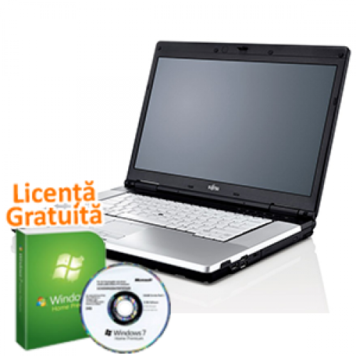 Laptop Fujitsu E780, Intel Core i5 M520, 2.4Ghz, 2Gb DDR3, 160Gb, DVD-RW, Webcam + Win 7 Premium + 36 LUNI GARANTIE