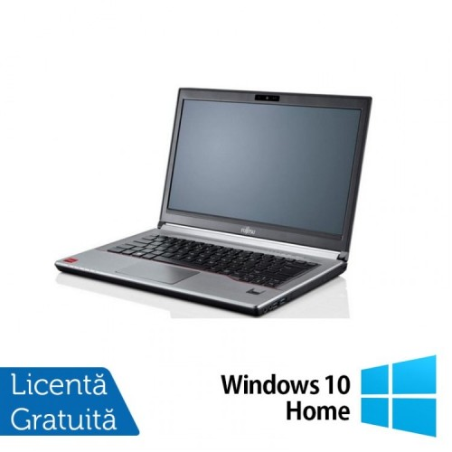 Laptop Fujitsu Siemens Lifebook E734, Intel Core i7-4712MQ 2.30GHz, 16GB DDR3, 240GB SSD, DVD-RW, 13.3 Inch + Windows 10 Home, Refurbished
