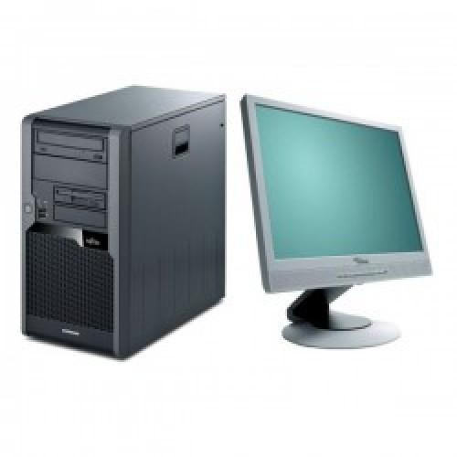 PC SH Fujitsu Siemens P5730, Core 2 Duo E7500, 2.93Ghz, 4Gb DDR2, 160Gb, DVD-ROM cu Monitor LCD