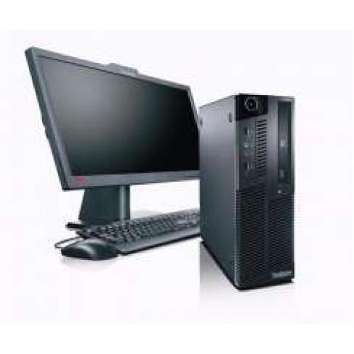 Calculator SH Lenovo M90p Desktop, i5-650 3,20Ghz, 4Gb DDR3, 250Gb HDD, DVD-RW cu Monitor LCD