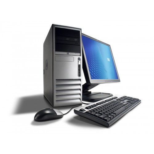 Computer HP Compaq DC7700, Tower, Core 2 Duo E6300 1.86Ghz, 2GB DDR2, 80GB HDD, DVD-RW cu Monitor LCD ***