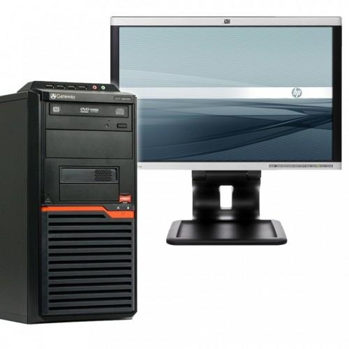 Pachet Tower Gateway AMD X2 Dual Core 255 3,10GHz , 2Gb DDR2 , 250Gb SATA , DVD-RW cu Monitor LCD