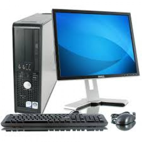 PACHET PC Dell Optiplex GX755 desktop, Intel Quad Core Q6600 2.40Ghz, 4GB DDR3, 120GB HDD, DVD-RW cu Monitor LCD