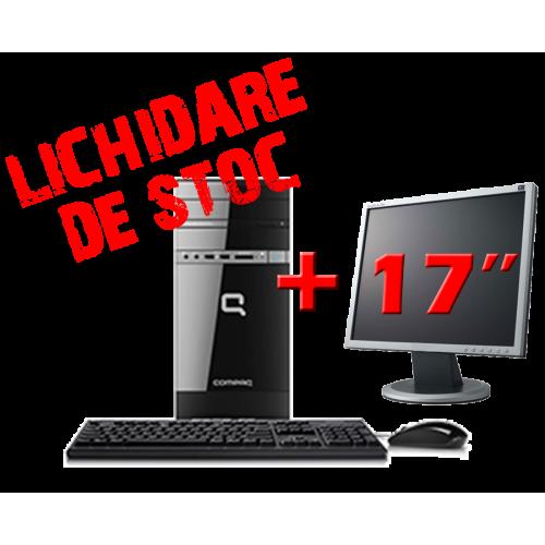 Hp Compaq 500B, Pentium Dual Core E5500, 2.8Ghz, 2Gb DDR3, 120Gb, DVD-RW cu Monitor 17 inch ***