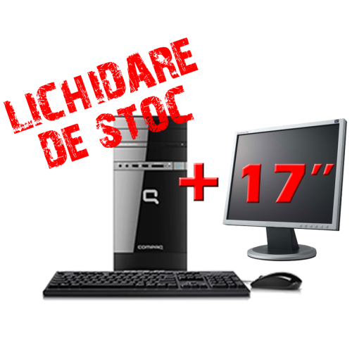 Hp Compaq 500B, Pentium Dual Core E5300, 2.6Ghz, 2Gb DDR3, 200Gb, DVD-RW cu Monitor 17 inch  ***