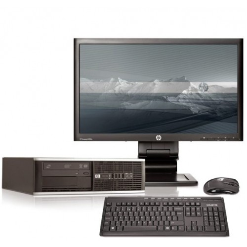 Pachet PC+LCD HP 6005 Pro, Athlon II X2 215, 2.7Ghz, 2Gb DDR2, 250Gb HDD, DVD