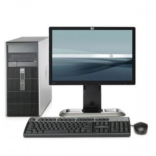 Computer HP Compaq DC5700 Tower, Intel Core 2 Duo E6320 1.86GHz, 3GB DDR2, 80GB HDD SATA, DVD-ROM + Monitor LCD 15 inch ***