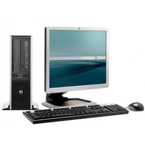 Calculator SH HP DC5800 Desktop, Intel Core 2 Duo  E8400, 3.0Ghz, 2Gb DDR2, 160Gb HDD, DVD-RW cu Monitor LCD