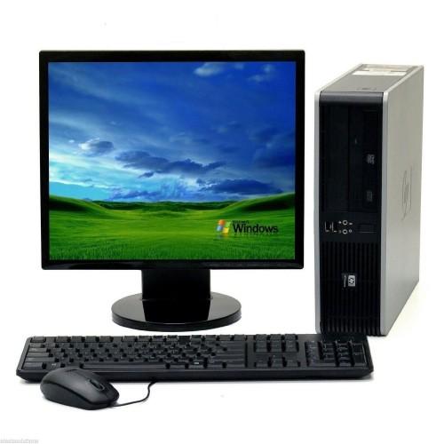 Calculator SH HP Compaq DC7800, Intel Core 2 Duo E6550 2.53Ghz, 4Gb DDR2, 80Gb SATA cu Monitor LCD