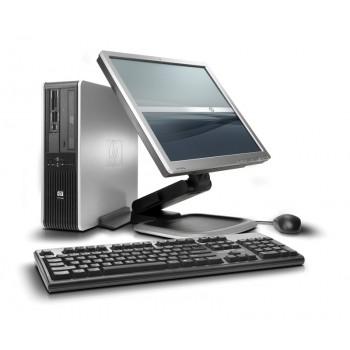 Pachet SH HP Compaq DC7800, Intel Core 2 Duo E6550 2.33Ghz, 2Gb DDR2, 160Gb SATA, DVD-ROM cu Monitor LCD 15 inch