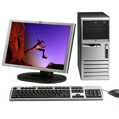 PC HP Compaq Tower D530, Core 2 Duo E6400 2.13Ghz , 1GB DDR , 40Gb HDD, CD-ROM + Monitor LCD***