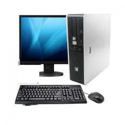 Pachet PC HP DC7800 Desktop, Intel Core 2 Duo E6750 2.67Ghz, 2Gb DDR2, 160Gb SATA, DVD-RW cu monitor LCD