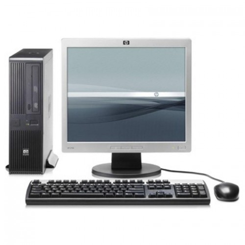 Pachet PC HP Compaq DC5700 Desktop, Intel Core 2 Duo E6320 1.86GHz, 2GB DDR2, 80GB HDD SATA, DVD-ROM + Monitor LCD 15 inch ***