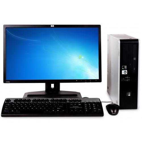 Calculator  HP DC5750 Desktop, AMD Sempron 3600+, 2.0GHz, 2 GB DDR2, 160 HDD, DVD cu monitor LCD