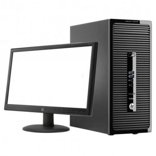 Pachet PC+LCD HP ProDesk 400 G2, Intel Core i5-4590 3.30Ghz, 4GB DDR3, 500GB Sata, DVD-RW, Video 1GB ATI HD5450
