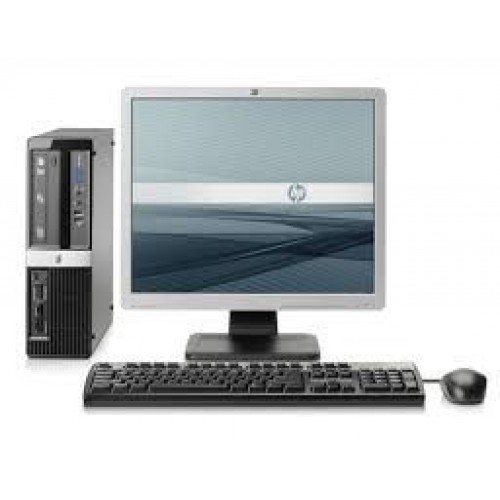 PC HP 3010 Pro SFF, Intel Core 2 Quad Q9400, 2.66GHz, 4GB DDR3, 250GB HDD, DVD-RW cu Monitor LCD