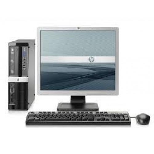 PC HP 3010 Pro SFF, Intel Core 2 Quad Q9400, 2.66GHz, 4GB DDR3, 250GB HDD, DVD-RW cu Monitor LCD