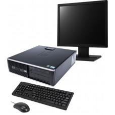 Pachet PC+LCD HP DC7800 SFF, Intel Core 2 Duo E6320 1.87Ghz, 2Gb DDR2, 80Gb SATA, DVD-ROM