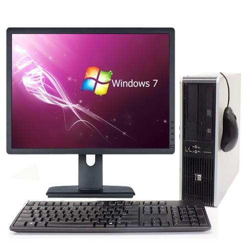 Computer HP Compaq Elite 8000 SFF, Pentium E5800 Core Duo , 3,20Ghz, 2Gb DDR3, 160Gb, DVD-RW cu Monitor LCD ***