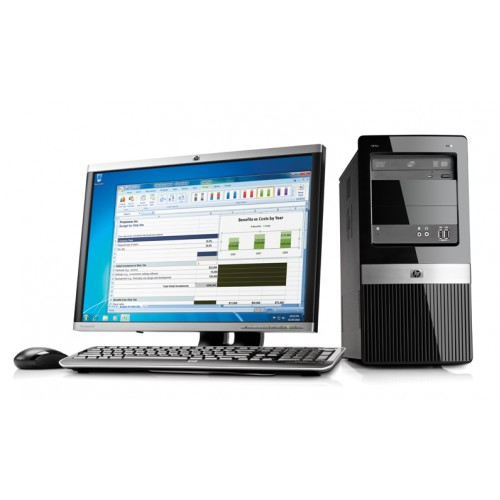 Calculator HP 3120MT Tower, Intel Core 2 Duo E8400 3,0Ghz , 2Gb DDR3, 160Gb HDD , DVD-RW cu Monitor LCD ***