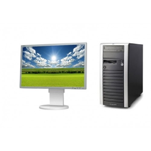PC Workstation HP ML150, Dual Core Xeon 2,80Ghz, 2Gb DDR2 , 160Gb HDD , CD-ROM cu Monitor LCD