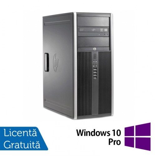 Calculator HP 6200 Tower, Intel Core i5-2400 3.10GHz, 4GB DDR3, 250GB SATA, DVD-ROM + Windows 10 Pro, Refurbished