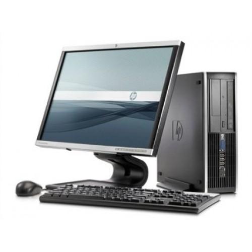 Computer HP Compaq Elite 8000 SFF, Pentium E6500 Core Duo, 2.93Ghz, 4Gb DDR3, 250Gb, DVD-RW cu Monitor LCD ***