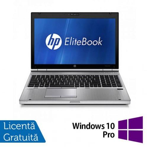 Laptop Hp EliteBook 8560p, Intel Core i5-2520M 2.5Ghz, 4Gb DDR3, 320Gb SATA, DVD-RW, 15.6 inch LED-Backlit HD + Windows 10 Pro