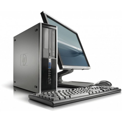 Pachet PC+LCD HP 8100 Elite desktop, Intel Core i3-530 2.93Ghz, 4Gb DDR3, 250Gb HDD, DVD