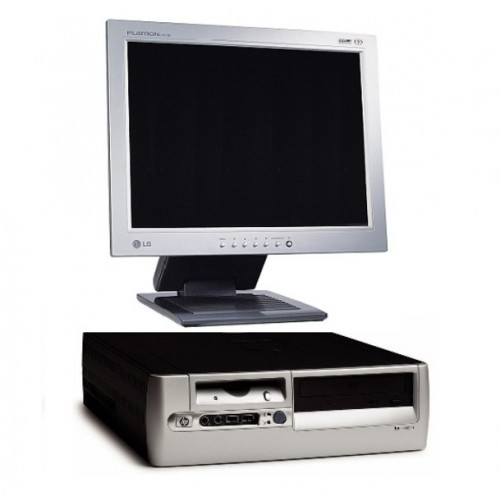 Pachet PC HP Compaq Desktop D530, Intel Pentium 4 2.6Ghz , 1GB DDR , 40Gb HDD, DVD-ROM + Monitor LCD