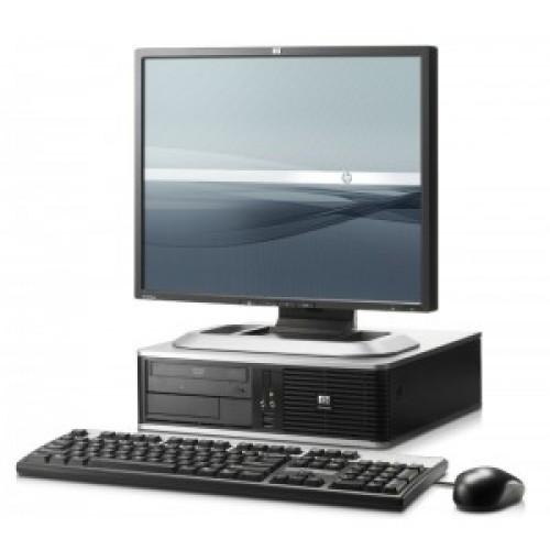 Pachet PC+LCD HP Elite 8300 USFF, Intel Core i5-3470s Generatia a 3-a 2.90GHz, 4Gb DDR3, 500GB SATA, DVD-RW