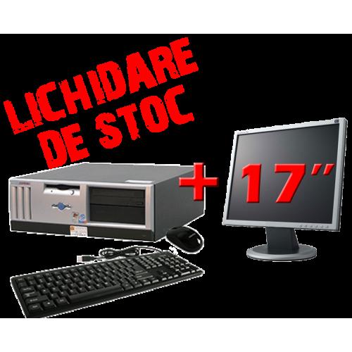 Pachet PC HP COMPAQ D31D,Procesor Intel Pentium 4, 2.4GHZ, RAM 512MB DDR,HDD 40GB, CD-ROM cu Monitor 17 inch***