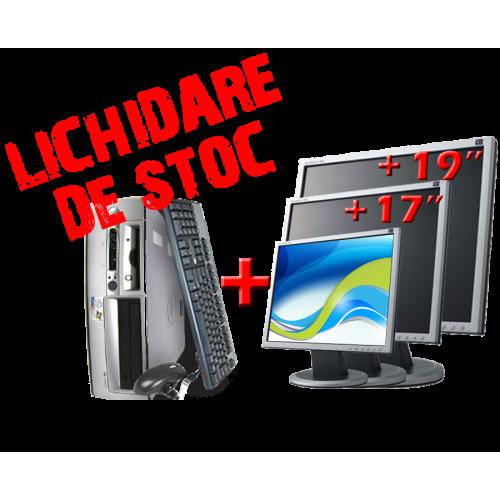 Oferta Pachet HP Compaq D530 SFF, Intel Pentium 4 2.8GHz - 3.0GHz, 1024MB DDR, 40GB HDD, DVD-ROM cu Monitor LCD