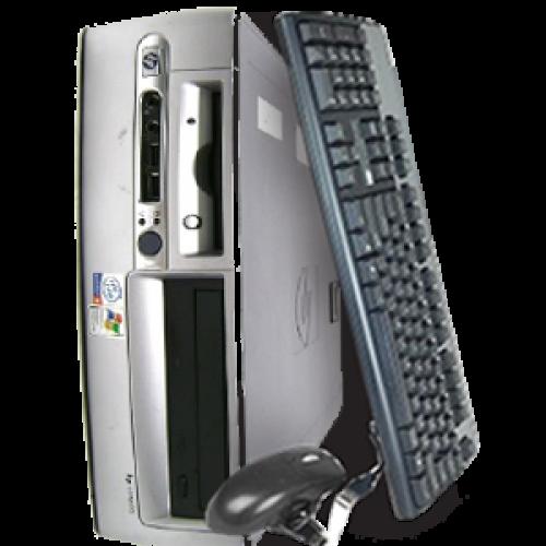Pachet super Oferta calculatorPC HP Compaq DC7600 USFF, Intel Pentium 4 3.0GHz, 1GB DDR, 80GB HDD, DVD-ROM + Monitor 17 inch LCD ***
