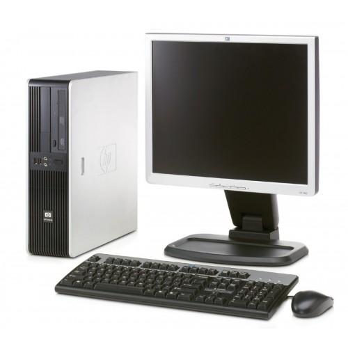 Calculator HP DC5700 Desktop, Dual Core E2200, 2.2Ghz, 2Gb DDR2, 160 GB SATA, DVD-ROM cu monitor LCD