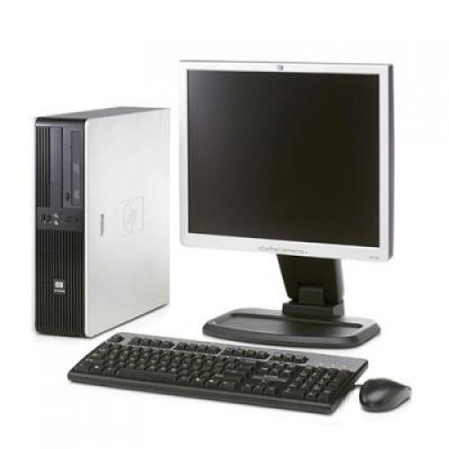 PC HP DC5850 AMD Athlon x2 5000+ Dual Core, 2.6Ghz, 2Gb DDR2, 80Gb, DVD-RW cu Monitor LCD