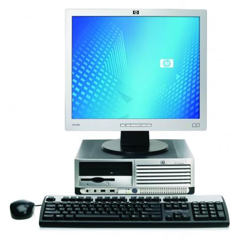 Calculator HP DC7700 SFF, Pentium D, 3.00Ghz, 1Gb, 80 GB, DVD-ROM cu Monitor LCD