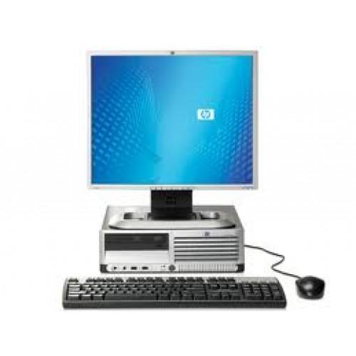 PACHET Calculator HP DC7700 Desktop, Intel Dual Core E2140 1.60GHz, 2Gb DDR2, 80 GB, DVD-RW cu Monitor LCD