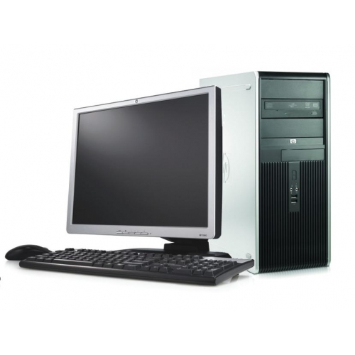 PC SH HP DC7800 MiniTower, Intel Core 2 Duo E7400 2.8Ghz, 2Gb DDR2, 160Gb SATA, DVD-RW cu Monitor LCD
