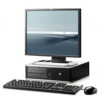 Pachet PC+LCD HP DC7800, Intel Core 2 Duo E8400 3.0Ghz, 2Gb DDR2, 160Gb SATA, DVD-RW, Desktop