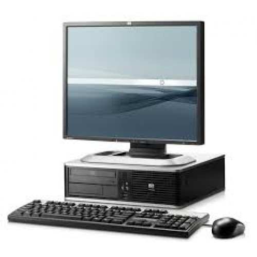 Pachet PC+LCD HP DC7800, Intel Core 2 Duo E8400 3.0Ghz, 2Gb DDR2, 160Gb SATA, DVD-RW, Desktop